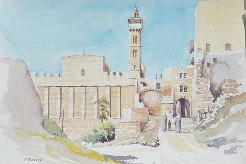 Ancient mosque in Hebron, 1987