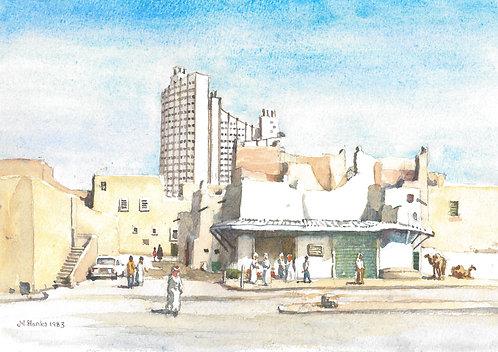 Old and new Riyadh, 1983