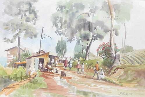 Village in hills above Port-au-Prince, 1976