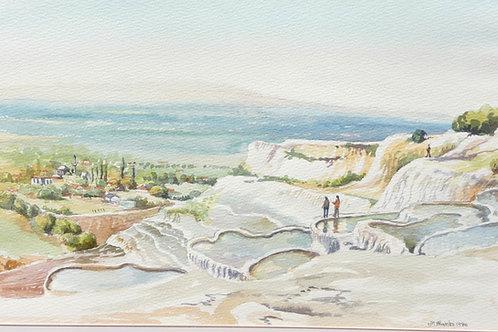Salt deposits at Pamukkale, 1986