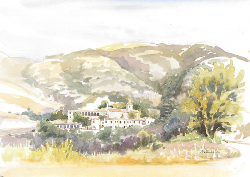 Agia Moni Monastery in the hills behind Paphos, 1984