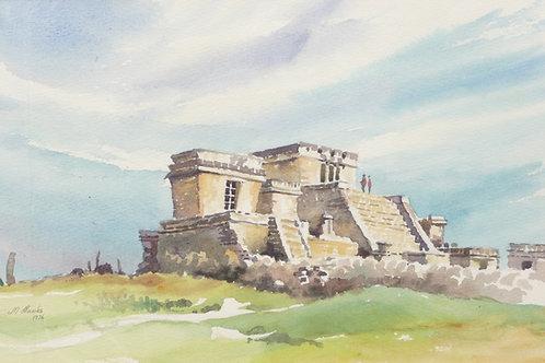 Maya temple at Uxmal, 1976