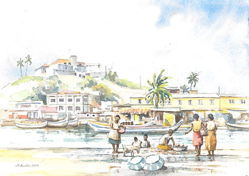 Elmina Fish Market, 2004