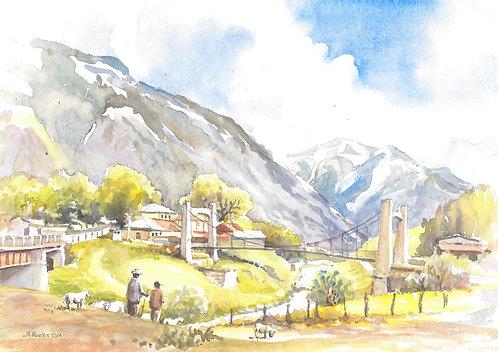 Terek River, Kazbegi, 2004