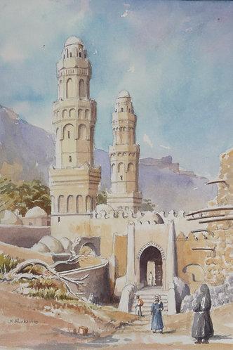 Ancient Mosque in Taiz,1984