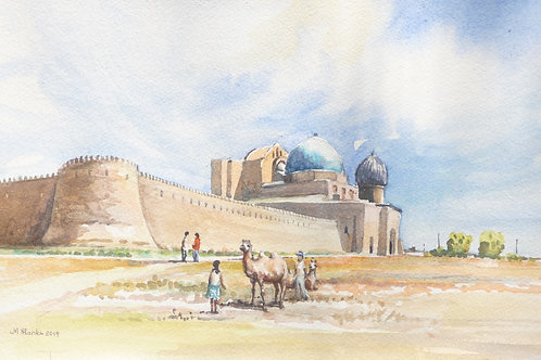 14th Century Fort at Turkistan, 2014