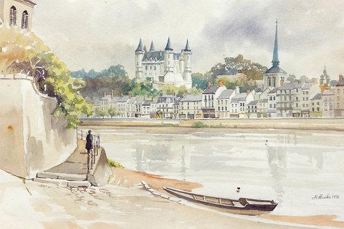 Loire River at Saumur, 1981