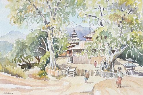 Small Buddhist monastery, near Kalaw, 1994