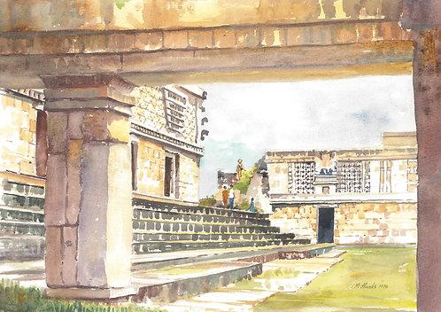 Maya ruin at Uxmal, 1976
