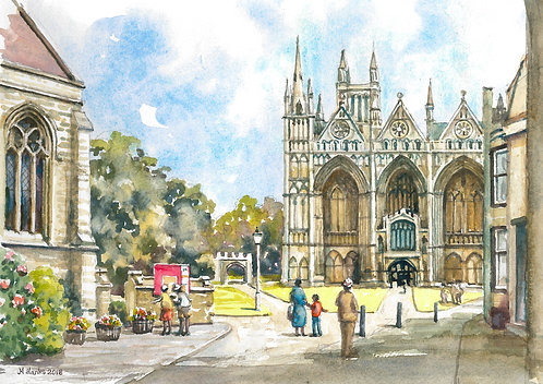 Peterborough Cathedral and grounds