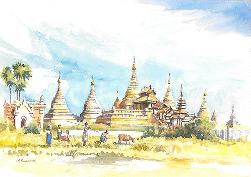 Bagan temple, 1994