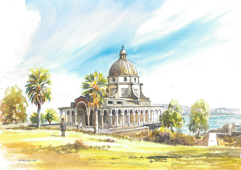 The Church of the Beatitudes by the Sea of Galilee, 1987