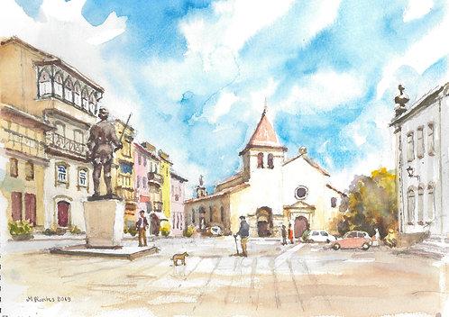 Main plaza at Chaves, 2019
