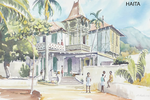 Old mansion which is now a school, Port of Prince, 1976