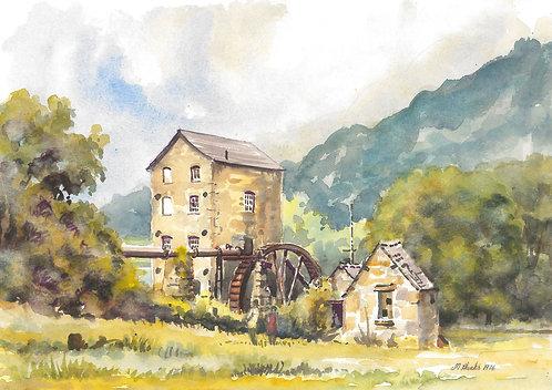Old mill in Llangollen, 1976