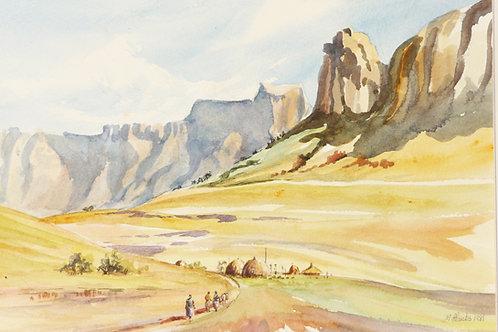 Mont-aux-Sources National Park, Drakensberg, 1981