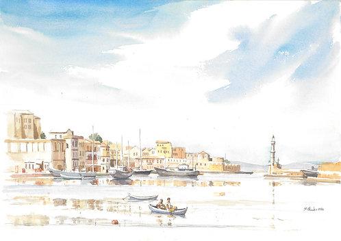 Chania's Venetian Harbour, Crete, 1984