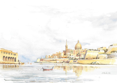 The Grand Harbour, Valletta (B), 1984