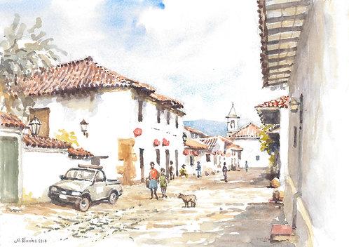 Back street of Villa de Leyva, 2014