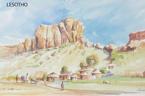Hills behind Maseru, 1981
