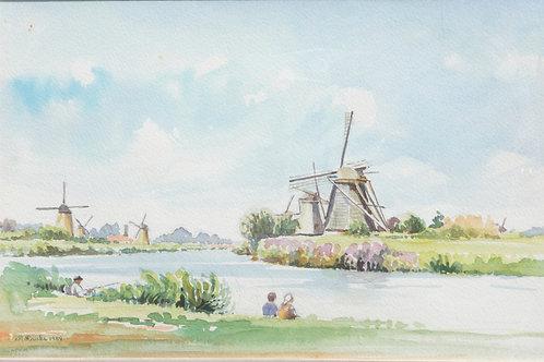 Kinderdijk near Rotterdam, 1989