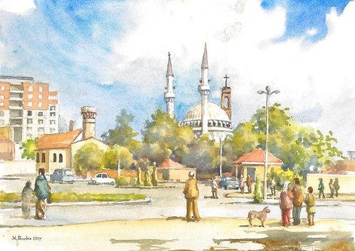 Central Shkodra and church, 2017