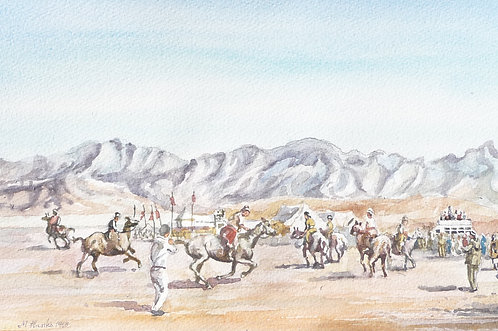 Buzkashi Games near Kabul, 1968