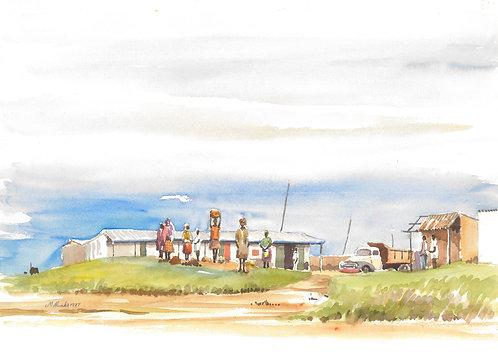 A collective farm near Kitale, 1977