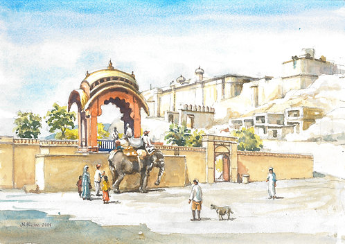 Elephant ride up to Amber Fort, near Jaipur