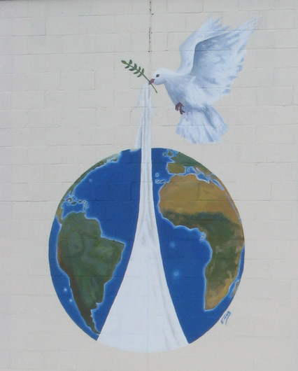 Dove of Peace, Olive Branch and looking