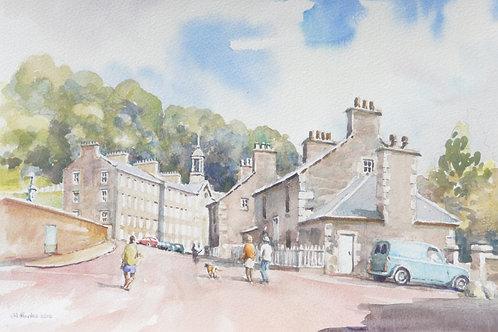 New Lanark heritage town, 2012