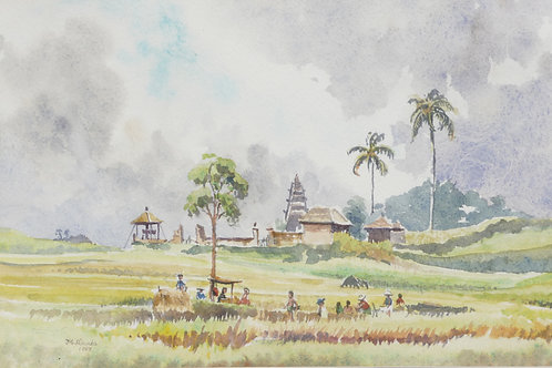 Farmers in the foothills of central Bali, 1969