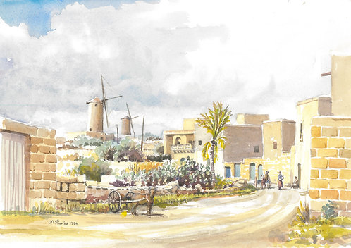 Qala village on Gozo, 1984