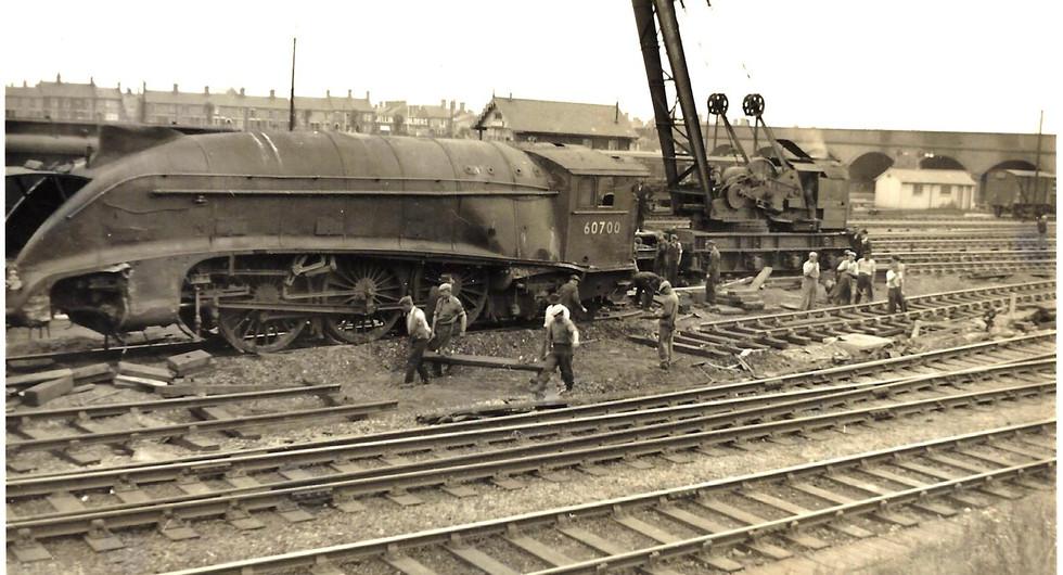 60700 - Off the rails 1955 at Peterborou