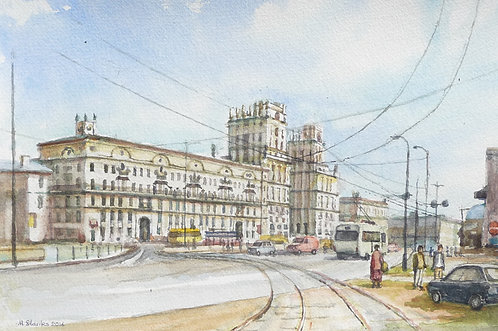 Old Soviet Buildings, Railway Station Square, 2016