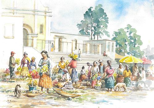 Flower Market in Quetzaltenango, 2009