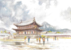 Gyeonbokgung Palace in central Seoul (B)