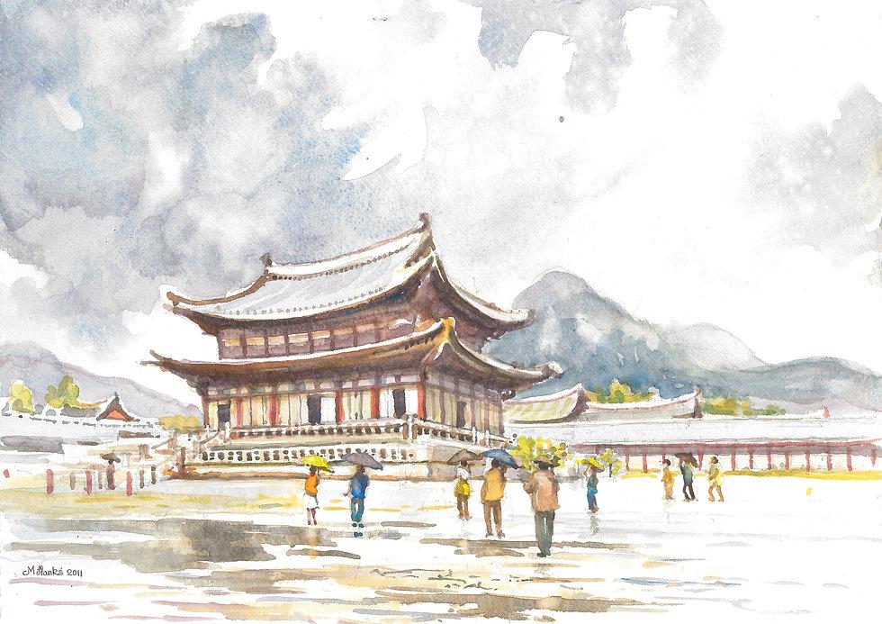 Gyeonbokgung Palace in central Seoul (B)