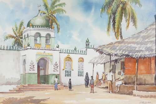 The Riyadha Mosque in Lamu, 1977