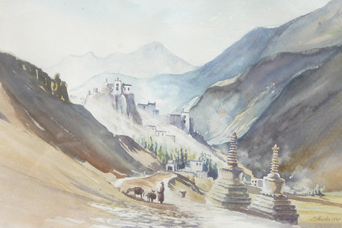 Kargil on road to Ladakh, 1980