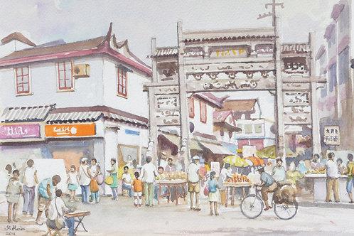 Street market in Shanghai, 2011