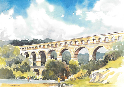 The Pont du Gard Aqueduct, 1986