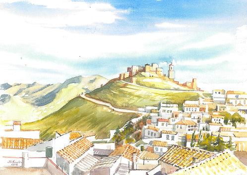 La Calahorra Castle inland from Malaga, 1998