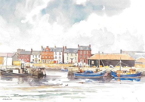 Arbroath Harbour, Angus, 1989