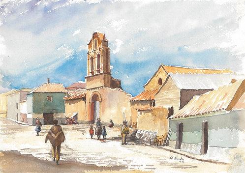 Typical street scene in Potosi, 1971