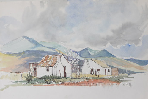 Typical farm workers homes near Oudtshoorn, 1981