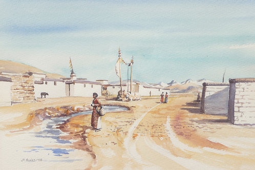 Tingri, eastern village, 1988