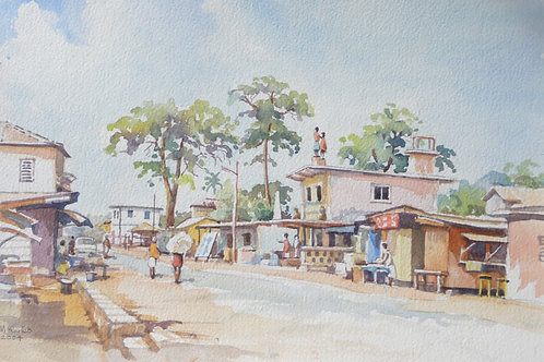 Posuban Shrine in Elmina, 2004
