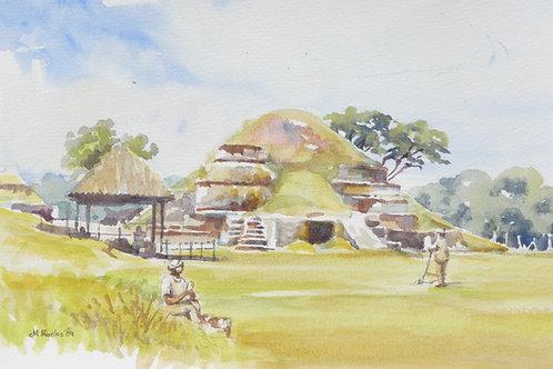 Maya ruins at San Andrus, 2009