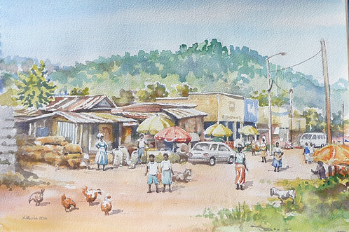 Kibuye's busy street market, 2016